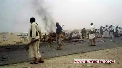 إستشهاد وإصابة ثلاثة مواطنين بغارة لطيران العدوان على سيارة بمديرية المطمة بالجوف