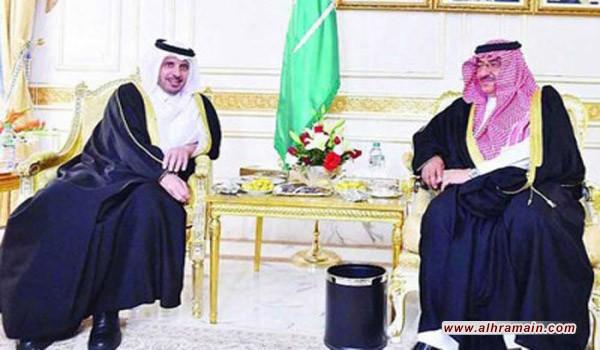 ولي العهد السعودي يبحث مع رئيس وزراء قطر جهود محاربة الإرهاب والعلاقات الثنائية وسبل تعزيزها في مختلف المجالات خاصة الامنية
