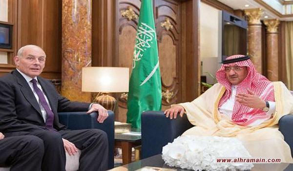 مصدر سعودي معارض: الوفد الامريكي للسعودية هدد ابن نايف..ترامب ليس اوباما.. تفاصيل