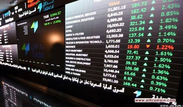 استمرار هبوط مؤشر الأسهم السعودية