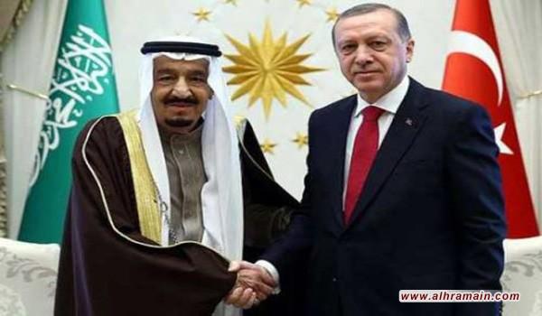 أردوغان يجري اتصالا هاتفيا بالعاهل السعودي الملك سلمان