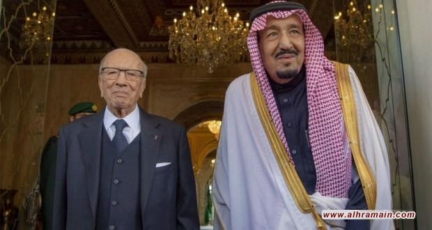 """الملك سلمان في تونس: """"قروض"""" ومشاريع لا تمنحه """"دكتوراه فخرية"""""""