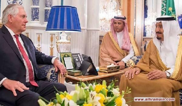 تيلرسون يعود الى الرياض في زيارة ثانية للمملكة يلتقي فيها الجبير وسلمان في مسعى جديد لحل أزمة قطر