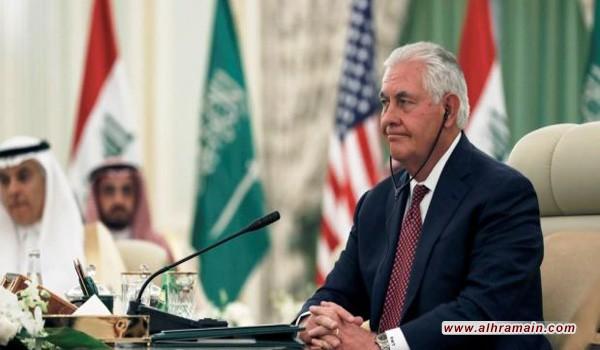 تيلرسون من الرياض: الأمر متوقّف على تلبية الدول الأربع دعوة قطر للحوار