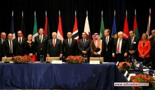 أول اجتماع يضم آل ثاني والجبير وشكري منذ بدء الأزمة الخليجية حول سوريا