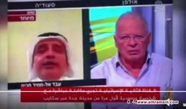 الخبير السعوديّ عبد الحميد حكيم في مقابلةٍ مع التلفزيون الإسرائيليّ