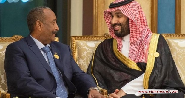 """ابن سلمان ورئيس """"المجلس السيادي"""" في السودان يبحثان """"مسائل مشتركة"""""""