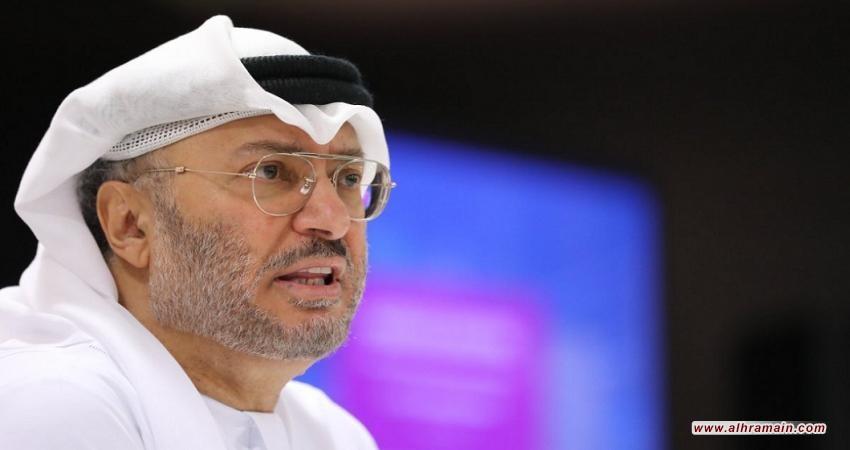 قرقاش يبشر بزخم سعودي مصري ضد تركيا في 2019