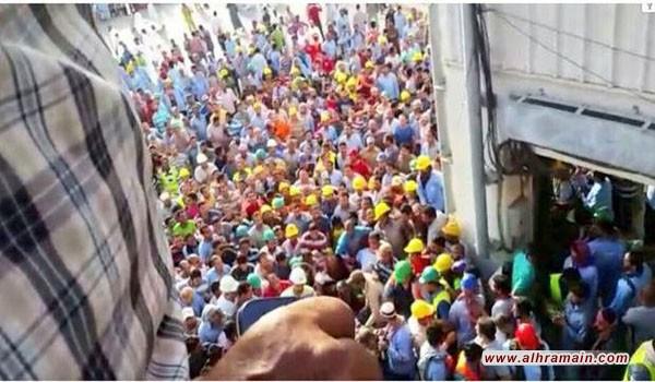 """بعد الاحتجاج على عدم صرف رواتبهم.. السجن والجلد لعمال شركة """"بن لادن"""""""