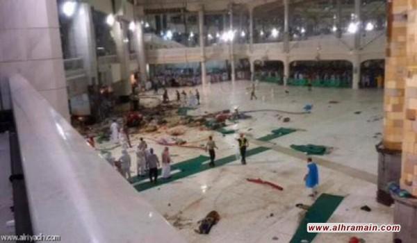 السعودية : حفظ الاتهام بحق 42 متهما في حادث سقوط رافعة الحرم