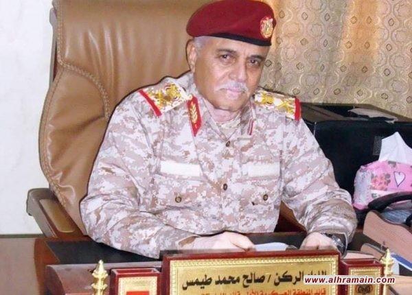طائرة سعودية تنقل قائد المنطقة العسكرية الأولى من سيئون الى الرياض ومراقبون يحذرون