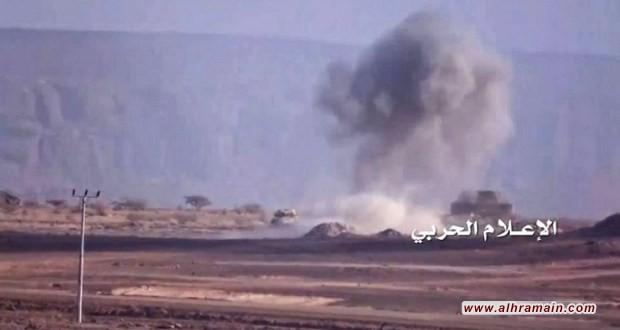 تدمير رتل دبابات للجيش السعودي في نجران