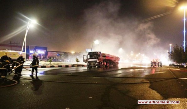 مقتل مواطن بسبب احتراق ناقلة نفط على طريق مكة المكرمة جدة