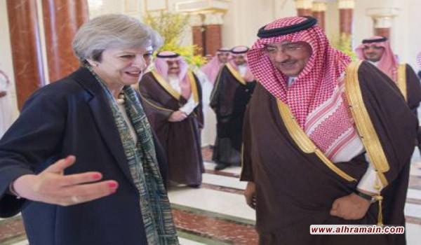 السيدة تيريزا ماي ترفض غطاء رأسها اثناء لقائها مع العاهل السعودي