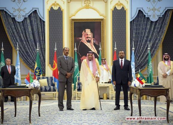 السعودية تضع قدما في افريقيا برعايتها اتفاقية سلام تاريخية بين إثيوبيا وإريتريا..