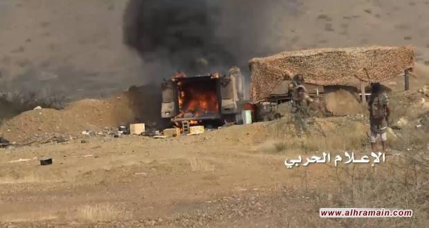 إصابة جنود سعوديين وتدمير آلية في نجران