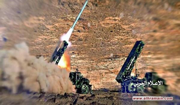 """القوة الصاروخية اليمنية تستهدف بصاروخ """"بدر1"""" الباليستي ميناء جيزان السعودي"""