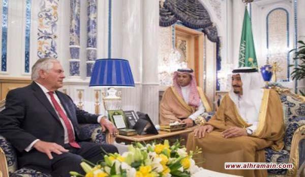تيلرسون يغادر جدة إلى الكويت وغدا الى الدوحة للقاء امير قطر بعد اجراء سلسلة مباحثات