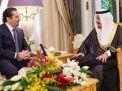 الملك سلمان يستقبل رئيس الوزراء اللبناني المستقيل