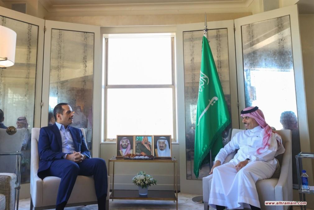 نيويورك تجمع وزيري خارجية السعودية وقطر