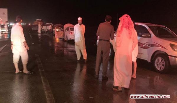 السيول السعودية تتسبب بإغلاق طريق الرياض الطائف