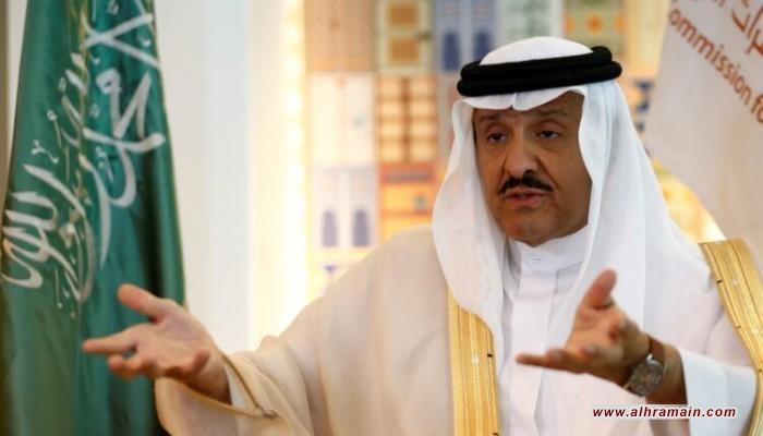 إنتلجنس أونلاين: الإطاحة بسلطان بن سلمان تعيد النظر بعقود هيئة الفضاء السعودية